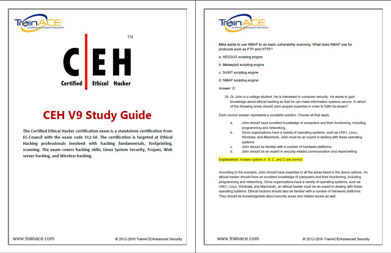 CEH Study Guide Screen Shot